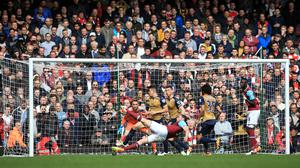 Andy Carroll scored a hat-trick in West Ham's 3-3 draw with Arsenal