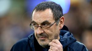 Maurizio Sarri is preparing for Everton (Steven Paston/PA)