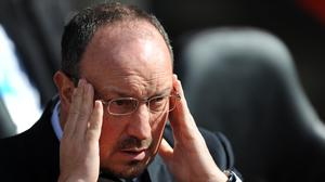 Newcastle manager Rafael Benitez is looking for four wins for survival following defeat at Southampton