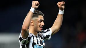 Ayoze Perez celebrates his goal against Leicester in April (Nick Potts/PA)