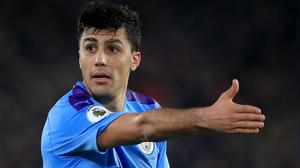 Rodri has his sights set on the Champions League (Mike Egerton/PA)