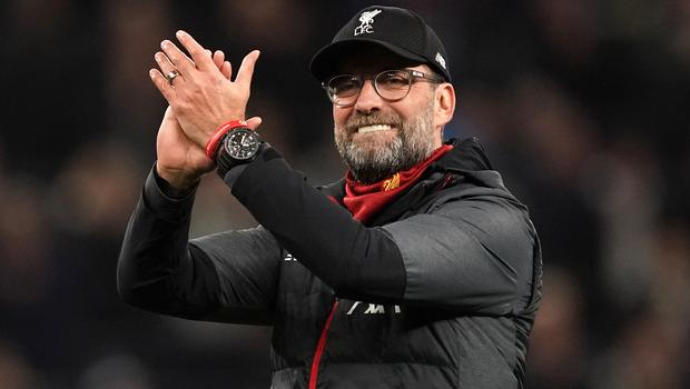 Liverpool manager Jurgen Klopp saw his team move 16 points clear at the top of the Premier League (PA)