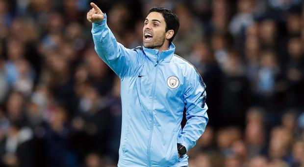 Manchester City assistant manager Mikel Arteta has been holding talks with Arsenal (Martin Rickett/PA)