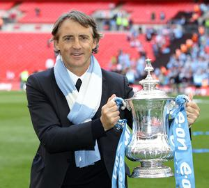 Mancini lifted the FA Cup with Manchester City in 2011 (Nick Potts/PA)