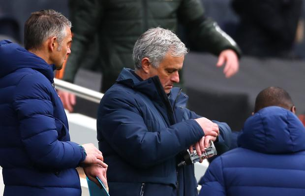 Tottenham's latest defeat gave Jose Mourinho a lot to ponder (Clive Rose/PA)