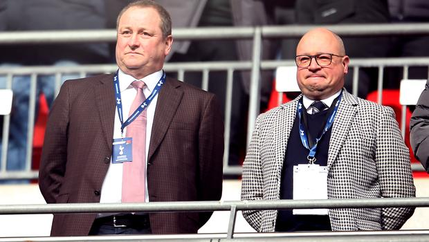 Newcastle owner Mike Ashley (left) and managing director Lee Charnley have work to do to persuade Benitez to stay (Steven Paston/PA)