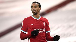 An ankle ligament injury to Joel Matip means Liverpool manager Jurgen Klopp has no fit senior centre-backs (Peter Powell/PA)