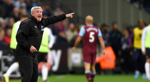 Newcastle head coach Steve Bruce will be relieved to get November out of the way (Daniel Hambury/PA)