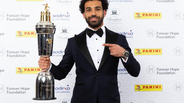 Mohamed Salah was voted the PFA Player Of The Year by his peers (Barrington Coombs/PA Images)