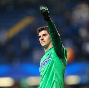 Chelsea goalkeeper Thibaut Courtois is on loan at Atletico Madrid