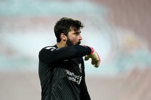 It was a bad afternoon for Alisson and Liverpool (Tim Keeton/PA)