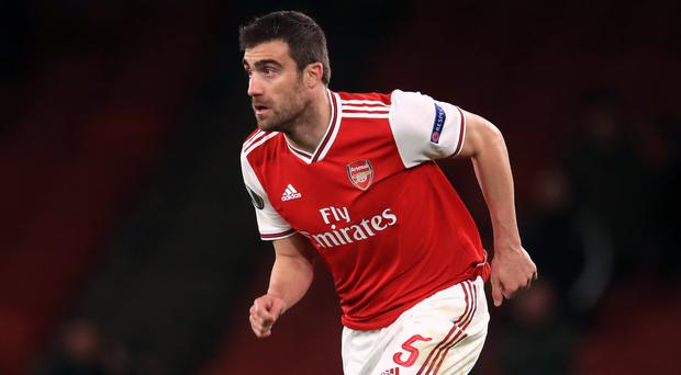Sokratis Papastathopoulos wants to Arsenal to recover their Premier League season with victory against Manchester City (Adam Davy/PA)