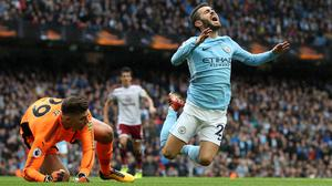 Bernardo Silva, right, was not retrospectively punished for winning a penalty against Burnley