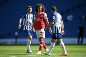 Matteo Guendouzi, left, argues with Brighton forward Neal Maupay (Mike Hewitt/NMC Pool/PA)