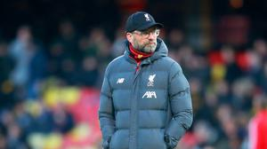 Liverpool manager Jurgen Klopp saw his side lose in the Premier League for the first time this season last week. (Adam Davy/PA)