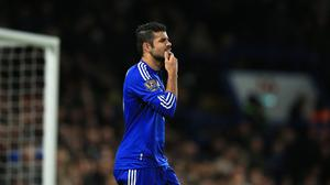 Chelsea's Diego Costa came on as a second half substitute but failed to make much of an impact