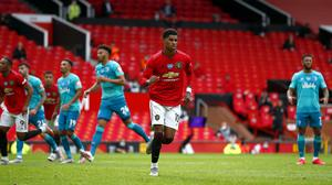 Marcus Rashford is relishing being part of Manchester United's front three (Clive Brunskill/Pool/PA)