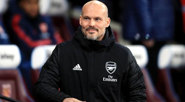 Freddie Ljungberg is in temporary charge of Arsenal (Adam Davy/PA)