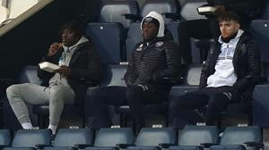 Crystal Palace's Eberechi Eze, left, watched his old team QPR on Saturday (Tess Derry/PA)