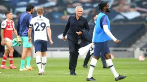 Tottenham manager Jose Mourinho hailed the tactical success to defeat Arsenal (Michael Regan/NMC Pool)