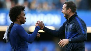 Frank Lampard, right, wants Willian to stay at Chelsea (Steven Paston/PA)
