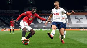 Paul Pogba, left, won United's penalty on Friday night (Shaun Botterill/NMC Pool/PA)