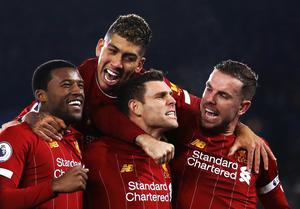Liverpool can still beat City's record of 100 points (Tim Goode/PA)