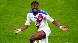 Wilfried Zaha faces a race against time to be fit for Crystal Palace's Premier League clash with Burnley (Will Oliver/NMC Pool)