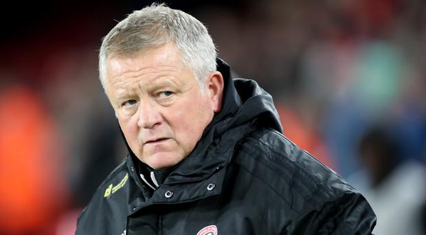 Chris Wilder was not happy with VAR (Danny Lawson/PA)