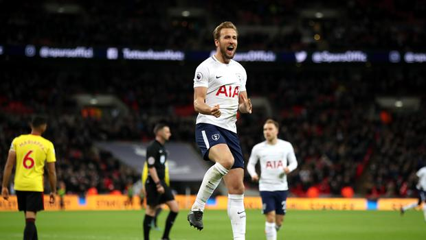 Harry Kane scored his 27th Premier League goal of the season against Watford on Monday night