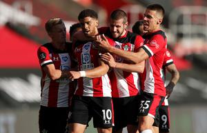 Che Adams, front, scored the only goal as City suffered a surprise loss at Southampton at the weekend (Frank Augstein/NMC Pool/PA)