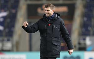 Steven Gerrard has led Rangers to the top of the Scottish Premiership (Andrew Milligan/PA)