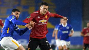 Diogo Dalot, right, has gone out on loan (Andy Rain/PA)