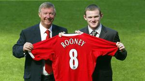 Wayne Rooney, pictured right, experienced many highs and lows at Old Trafford