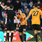 Raul Jimenez celebrates scoring Wolves' winner (Mark Kerton, PA)