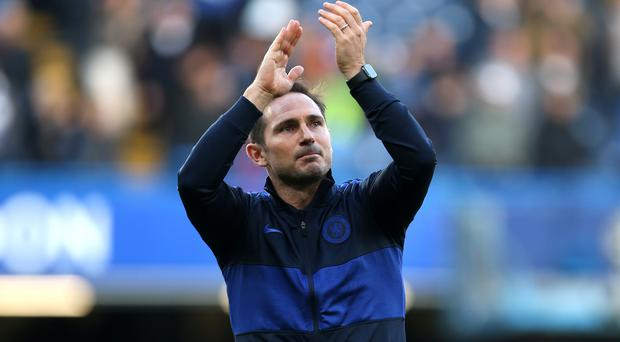 Frank Lampard wants Chelsea to stay in the top four (Steven Paston/PA)