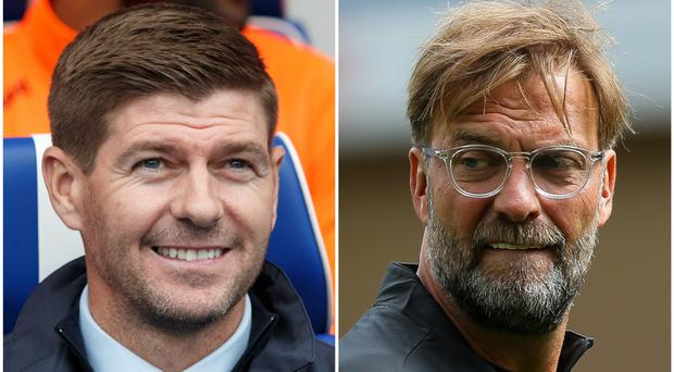Jurgen Klopp tipped Steven Gerrard as his successor (Robert Perry/Barrington Coombes/PA)
