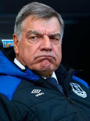 Out the door: Sam Allardyce led Everton to eighth