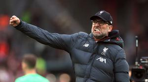 """Liverpool manager Jurgen Klopp says it is """"unthinkable"""" they have managed to establish such a huge lead over Manchester City (Mike Egerton/PA)"""