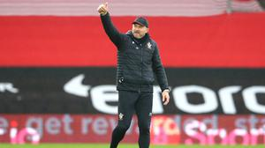 Southampton manager Ralph Hasenhuttl is keeping his feet firmly on the ground ahead of the Premier League trip to Arsenal (Michael Steele/PA)