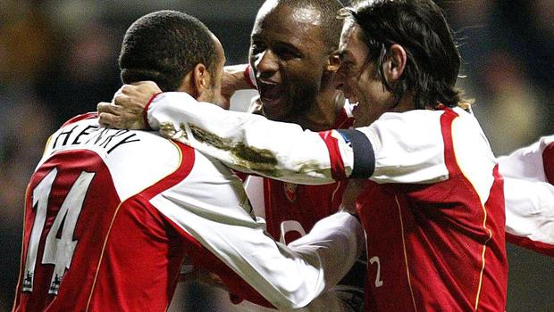 Patrick Vieira (centre) and Robert Pires (right) were part of Arsenal's Invincibles side. (Owen Humphreys/PA Images)