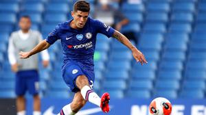 Christian Pulisic, pictured, strokes home a fine goal in Chelsea's 2-1 Premier League win over Manchester City (Julian Finney/NMC Pool)