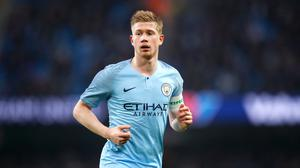 Kevin De Bruyne is determined to keep the pressure on Liverpool (Martin Rickett/PA)