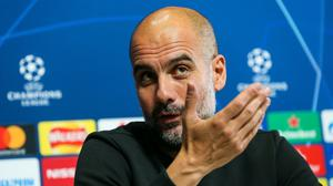 Pep Guardiola says motivation comes from within in the Champions League (Barrington Coombs/PA)