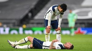 Toby Alderweireld, bottom, is set for a spell on the sideline after he suffered a groin injury in Tottenham's win against Manchester City (Neil Hall/PA)