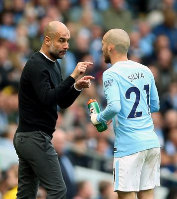 Silva, right, has thrived under Pep Guardiola (Nigel French/PA)