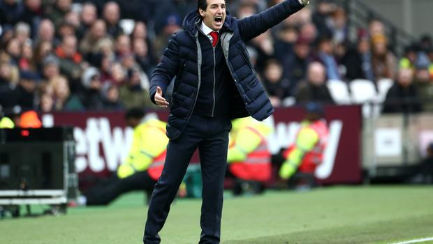 Emery was known for passionate gestures on the touchline (Yui Mok/PA)