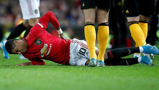 Marcus Rashford is facing a lengthy spell out (Martin Rickett/PA)