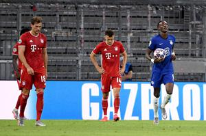 Tammy Abraham, right, claimed Chelsea's consolation against Bayern Munich (Sven Hoppe/PA)