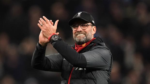 Jurgen Klopp was able to celebrate another home win for Liverpool on Saturday (John Walton/PA)
